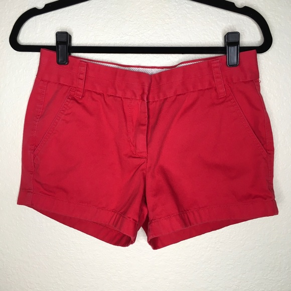 J. Crew Pants - J Crew Broken-In Chino Shorts Red Size 2